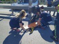 Avcılar'da motosiklet bariyere girdi: 1 yaralı