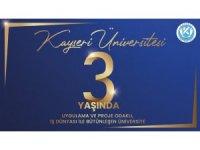 Kayseri Üniversitesi 3 yaşında