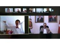 Özel gereksinimli öğrencilerle video konferans yöntemiyle buluştular