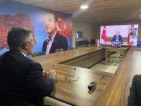 Cumhurbaşkanı Erdoğan'ın da katıldığı video konferans toplantısında yer aldı