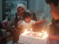 Şehidin kızına doğum günü sürprizi