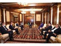 Türk üst düzey heyeti, Libya Başkanlık Konseyi Başkanı el-Menfi ve Yüksek Devlet Konseyi Başkanı el-Meşri ile görüştü