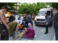 Elektrikli bisikletin çarptığı çocuk yaralandı
