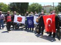 Motosiklet tutkunları Jandarma Teşkilatının Kuruluşunu kutladı