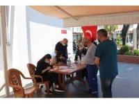 Türkeli'de aşı çadırı kuruldu