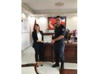 Çavdarhisar İlçe Jandarma Komutanı Göker'e başarı belgesi