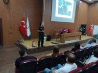 Hastane personeline yangın eğitimi verildi