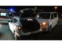 VİP araç, kavşakta otomobille çarpıştı: 2 yaralı