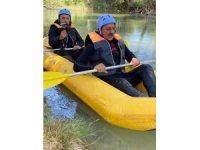 Sivas'ta rafting heyecanı
