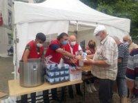 Amasya Kızılay gönüllüleri Artvin'deki sel bölgesinde