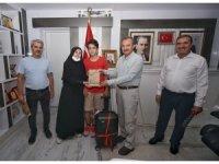 Başkan Kılınç, LGS şampiyonunu makamında ağırladı