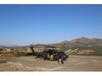 Tunceli'de helikopter destekli trafik denetimi