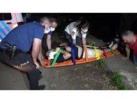 Arkadaşlarıyla alkol alırken 4 metre yükseklikten dereye düştü