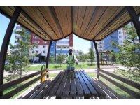 Pursaklar'da parklar korona virüse karşı güven altında