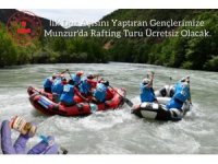 Tunceli'de aşı yaptıran gençlere ücretsiz rafting turu