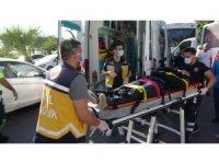 Motosiklet otobüs ile çarpıştı: 2 yaralı
