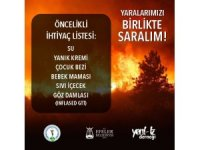 Efeler'den yangın bölgelerine yardım eli