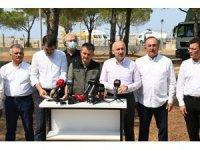 """Ulaştırma Bakanı Karaismailoğlu: """"İnşallah en kısa zamanda tüm yangınları söndürme çabası içerisindeyiz"""""""