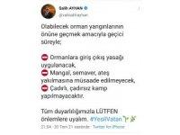Sivas'ta ormanlık alanlara girişler yasaklandı