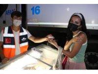 Samsun'da korona aşısı olana dondurma bedava