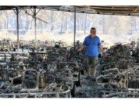 Manavgat'ta safari tesisi küle döndü, alevlerin arasında kalan işletme sahibi ölümden döndü