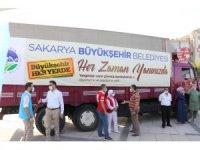 Sakarya'dan yangın bölgelerine yardım kamyonu