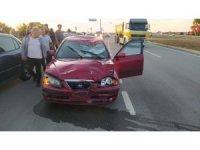 Tekirdağ'da otomobil motosiklete çarptı: 1 ağır yaralı
