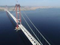 Dünyanın en uzunu olacak! 1915 Çanakkale Köprüsü yolu için 6 tabliye montajı kaldı!