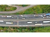Zincirleme kaza sebebi ile kapanan TEM, trafiğe açıldı
