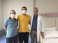 Midesindeki kötü huylu tümörden kapalı yöntem ameliyatla kurtuldu