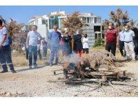 Karaman'da hastane personeline yangın söndürme eğitimi verildi