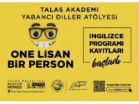 Talas Belediyesi'nden İngilizce kursu