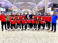 Gaziantep Polisgücü Spor Kulübü kadın ve erkek hokey takımlarının Avrupa yolculuğu başladı