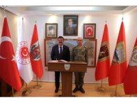 Vali Sarıibrahim'den Tuğgeneral Özbakır'a iade-i ziyaret