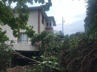 Artvin'de meydana gelen heyelan nedeniyle 6 kişinin yaşadığı 1 ev boşaltıldı