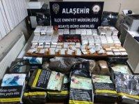 Alaşehir'de kaçak tütün ve sigara ele geçirildi