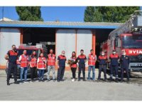 İtfaiyeye Genç Kızılay gönüllülerinden ziyaret