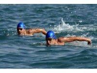 Mersin'de ilk kez yüzme maratonu düzenlendi