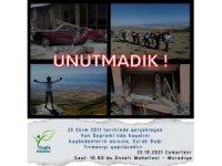 Van depreminde hayatını kaybedenler anısına Esrük Dağı'na tırmanış