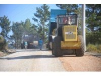 Alanya Koşdavut yoluna asfalt çalışması