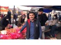Kabakları çalınan pazar esnafı gaziden örnek davranış