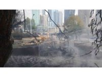 MTA bahçesindeki yangın kontrol altına alındı