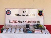 Manavgat'ta kaçak sigara operasyonu