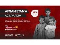 İDDEF'ten Afganistan'a yardım kampanyası