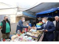 Başkan Şayir, pazarcı esnafını ziyaret etti