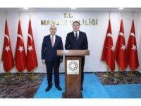 Kamu Başdenetçisi Şeref Malkoç Mardin Valisi Demirtaş ile görüştü