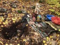 PKK'ya ait sığınakta yaşam malzemesi ele geçirildi