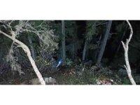 Odun keserken uçuruma düşen kişi kurtarıldı