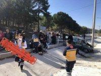 Burdur'da trafik kazası: 1 ölü, 3 yaralı