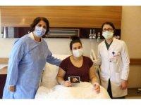 Hamile kadın korona virüsü atlattı